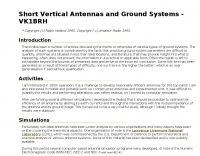 Short Vertical Antennas and Ground Systems