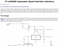 FT-1000MP Band Select Output and Amp Keying Interface