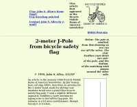 DXZone Bicycling  J-Pole 2-meter antenna