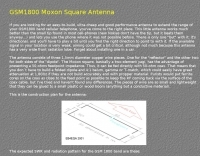 DXZone GSM1800 Moxon Square Antenna