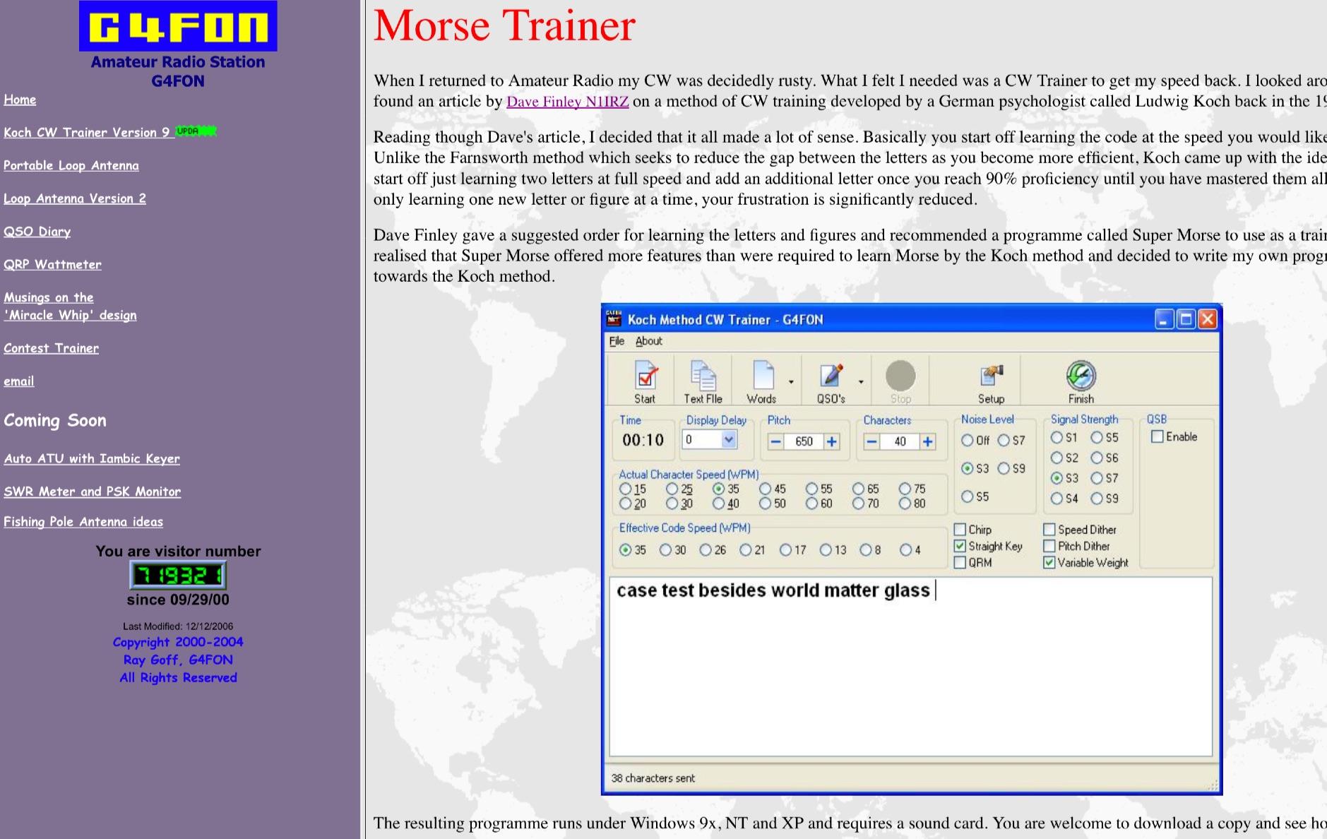 DXZone Koch Method CW Trainer