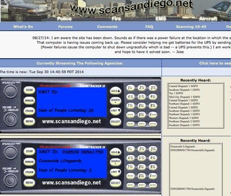San Diego's Live Police Scanner!