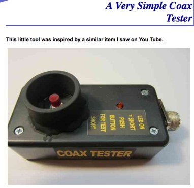 The Coax Tester