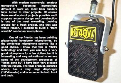 Homebrew Condenser Microphone