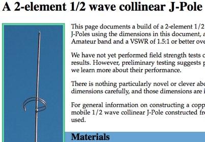 2-element 1/2 wave collinear J-Pole