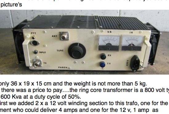 VHF 1Kw Amplifier