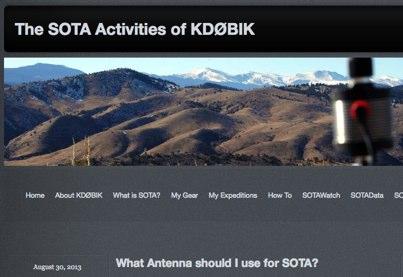 Antennas for SOTA
