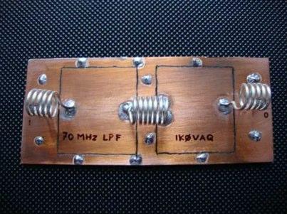 70 MHz low pass filter
