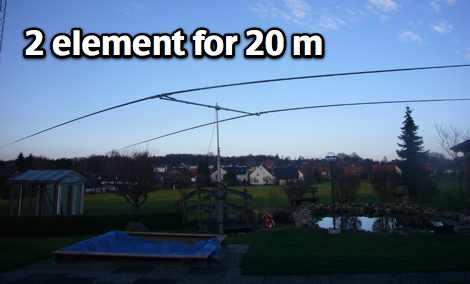 20m 2 element Yagi