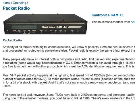 Packet Radio FAQ