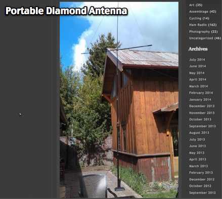 Portable Diamond Antenna