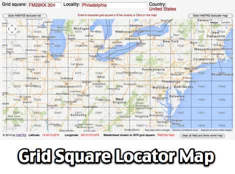 Accept. interesting grid square map amateur excellent