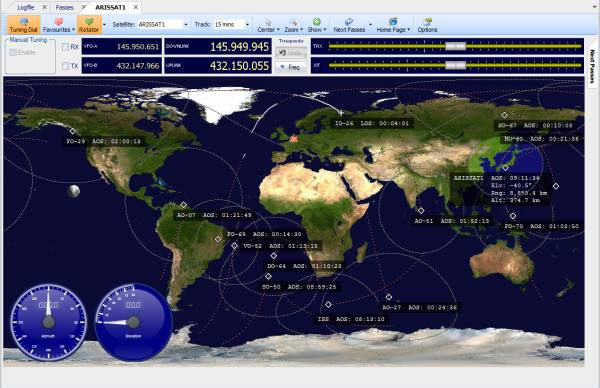 Operating via Ham Radio Satellites