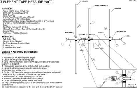 VHF 3EL Tape Measure Yagi