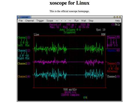 xoscope for Linux