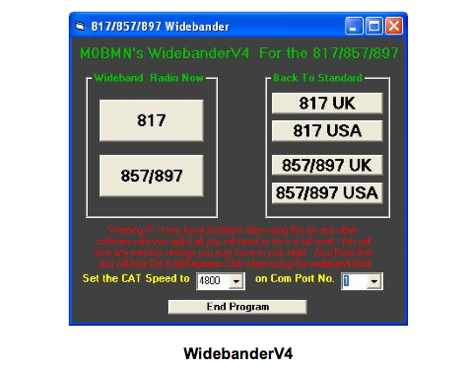 WideBand for Yaesu 817 857 897