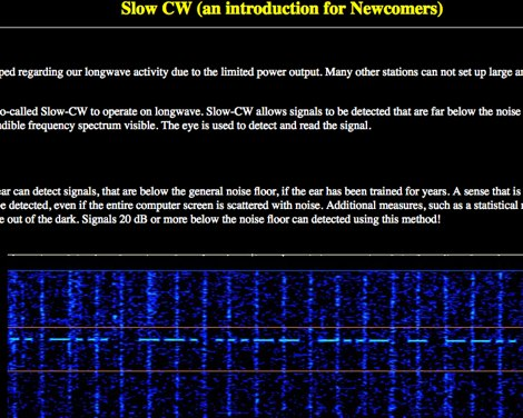 Slow CW an introduction for Newcomers