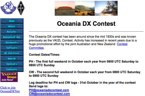 Oceania DX Contest