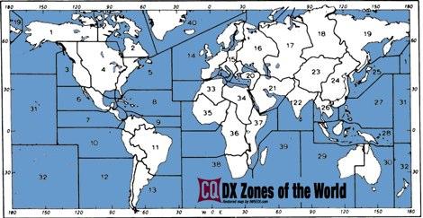 CQ Zones MAP