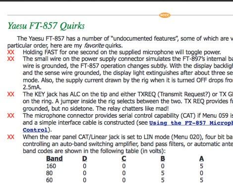 Yaesu FT-857 undocumented features