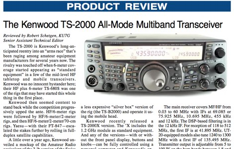 QST : Kenwood TS-2000 review