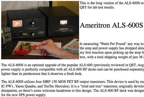 Ameritron ALS-600S review