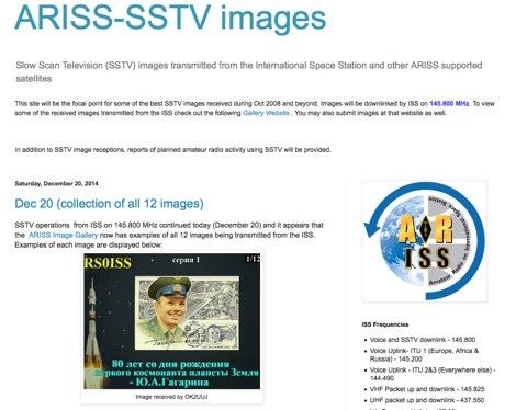 ARISS-SSTV images