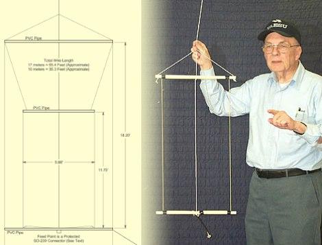 A Hanging Rectangular Loop Antenna