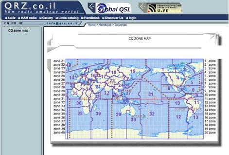 CQ zone map