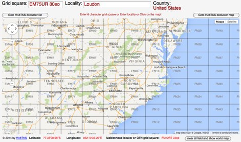 Grid Square Locator Map - Us map with grid