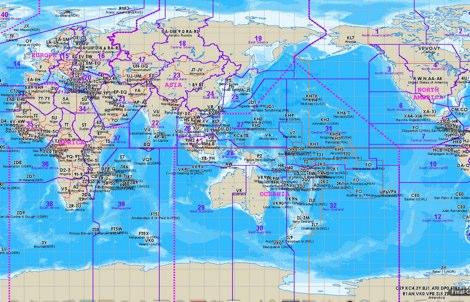 DXCC map