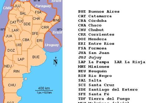 LU Argentina prefix map