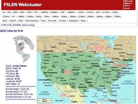 ARRL DX Resources DXCC - Us map of ham radio call sign prefixes