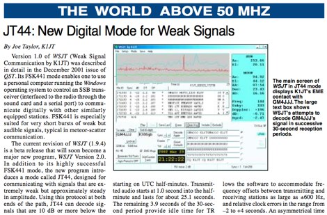 ARRL web: EME and  Weak Signals