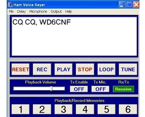 WD6CNF Voice keyer