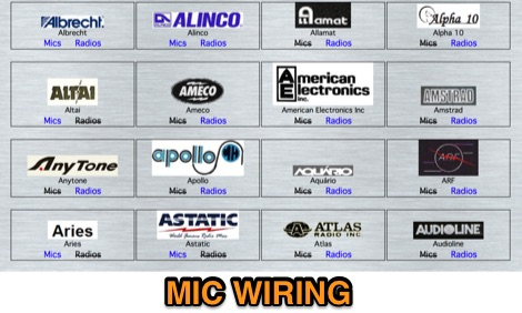Microphone Wiring Pin Outs