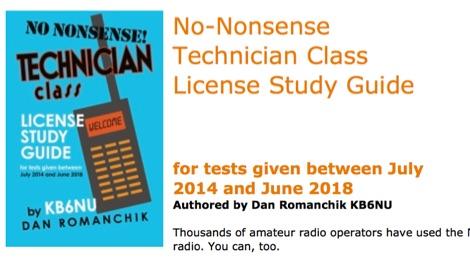 The No-Nonsense Technician-Class License Study Guide
