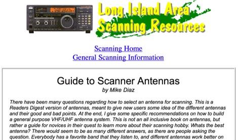 Guide to scanning antennas