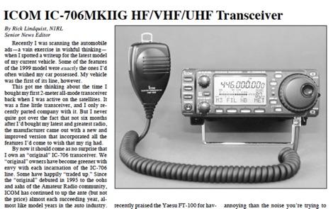 QST Icom IC-706 review
