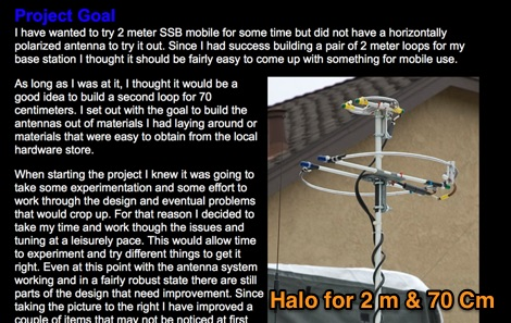 2 Meter & 70 Centimeter Mobile Halo Antenna