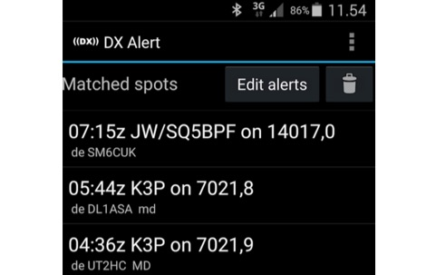 DX Cluster for Android