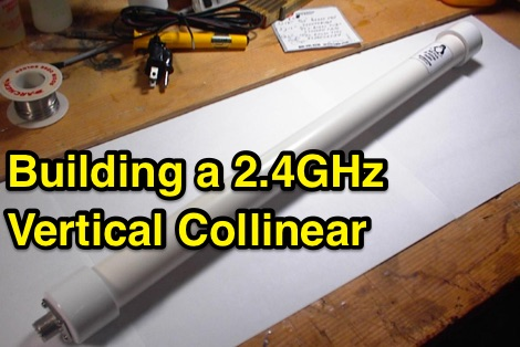 Build a 2.4GHz Vertical antenna