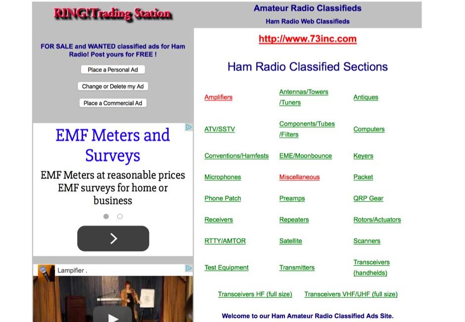 73Inc Ham Radio Classifieds
