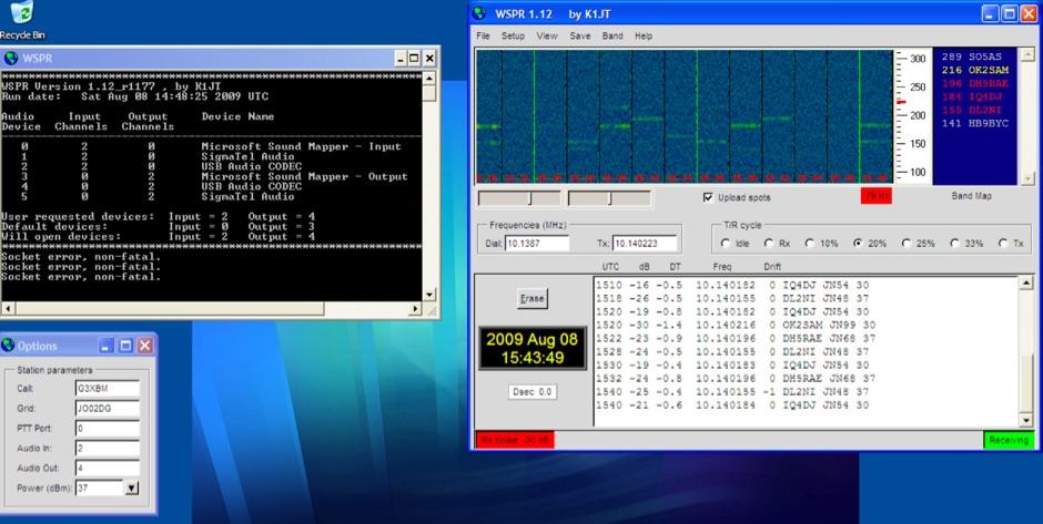 WSPR - weak signal beaconing