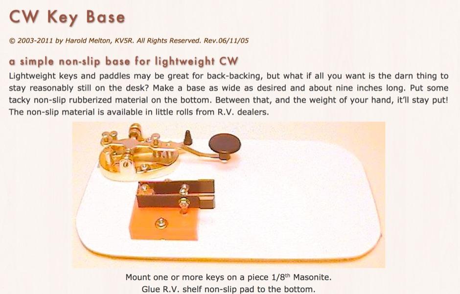 CW Key Base