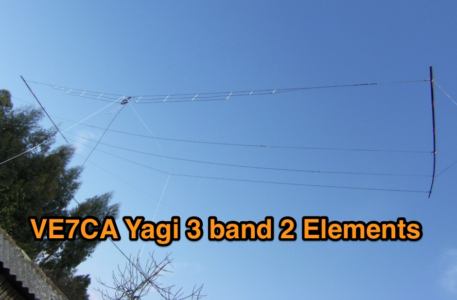 VE7CA portable tribander yagi