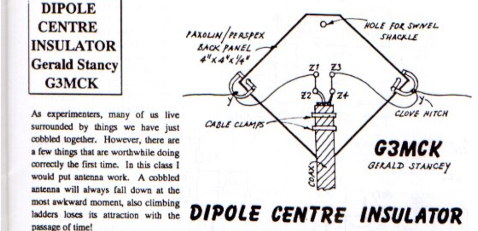 Dipole Centre Insulator