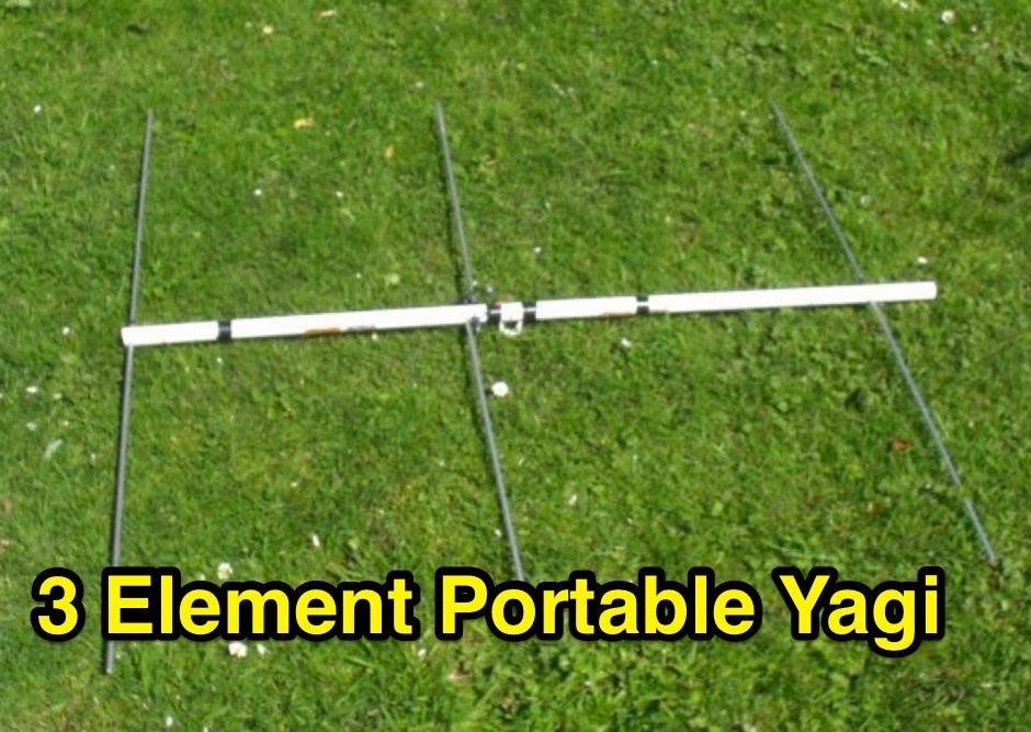3 element portable Yagi for 2 meters