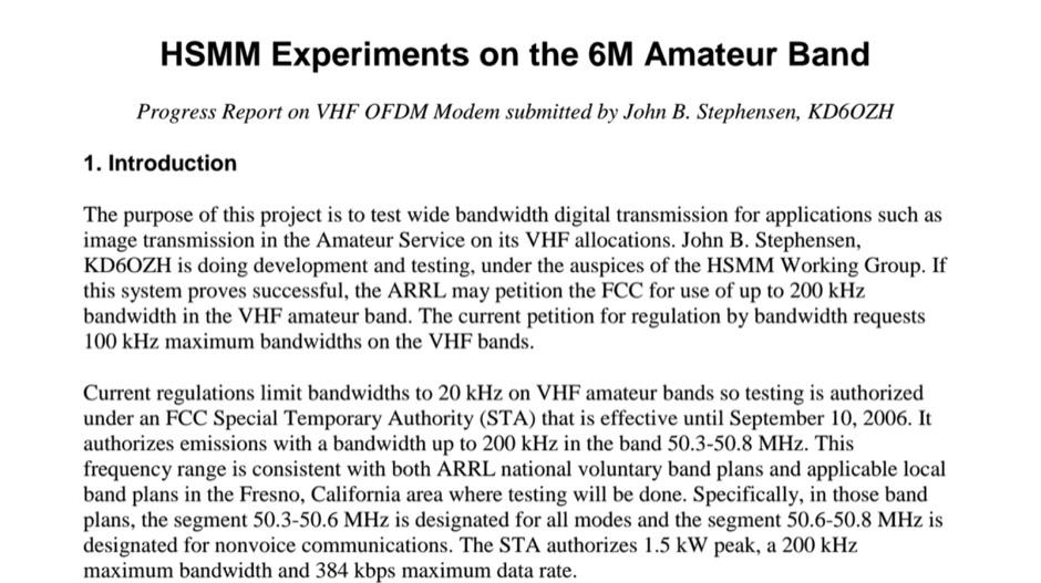 HSMM on 50 MHz