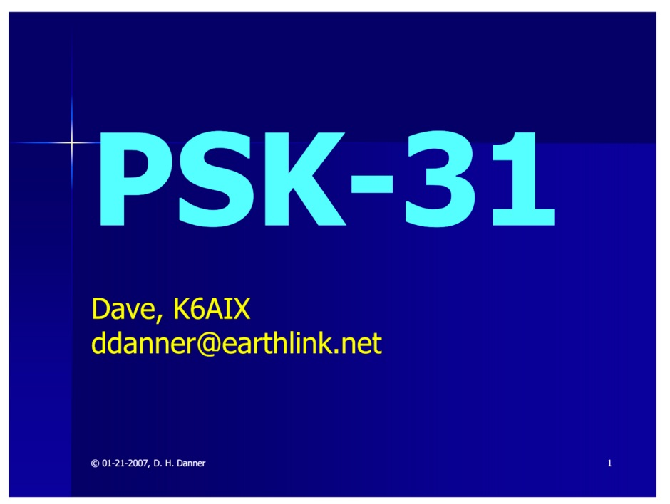 What's PSK-31